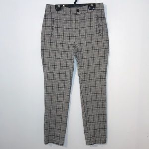 Jules & Leopold plaid skinny trousers